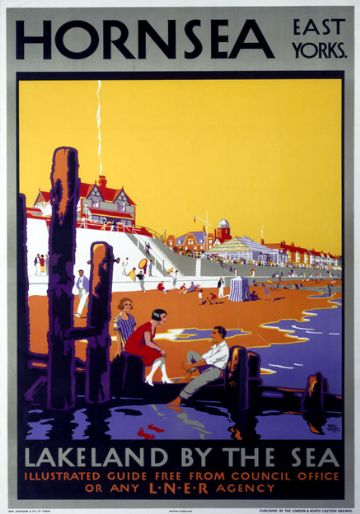 Hornsea, East Yorkshire. LNER Vintage Travel Poster by Harry Hudson Rodmell, 1926